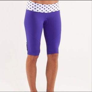 Lululemon Presta Padded Short Purple White Sz 4